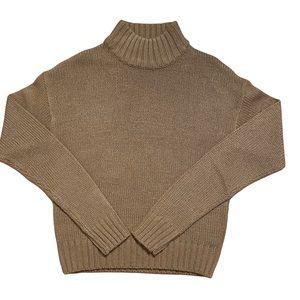 Bluenotes Women's Mock Neck Tan Sweater XS